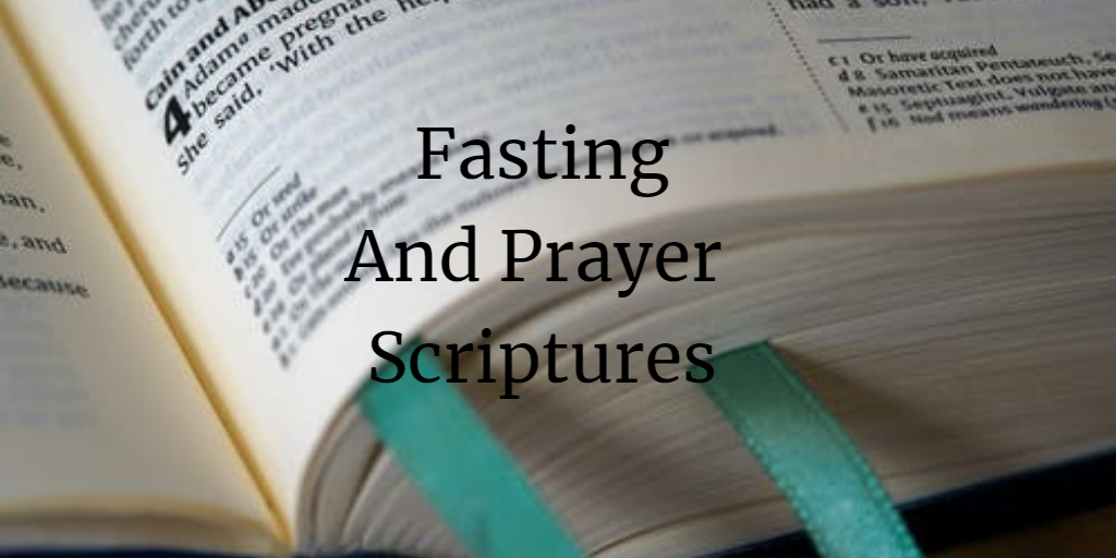 fasting and prayer scriptures