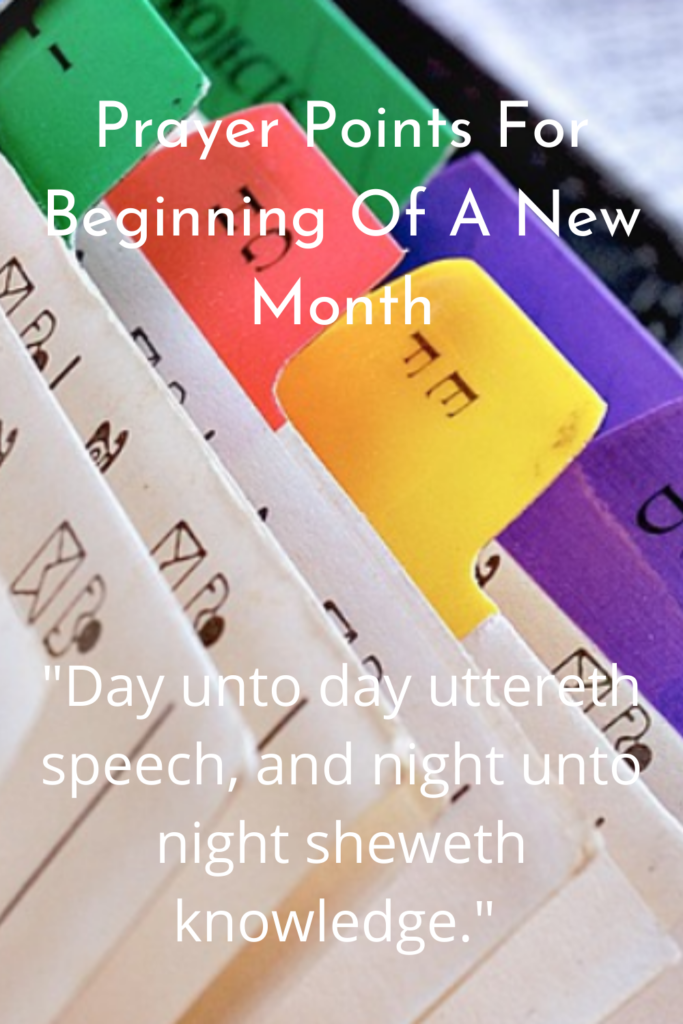 Prayer Points For Beginning Of A New Month