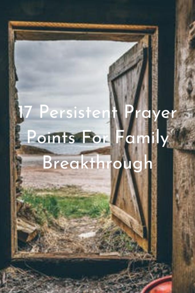 Prayer Points For Family Breakthrough