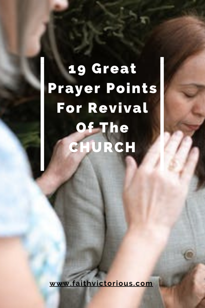 prayer points for revival of the church