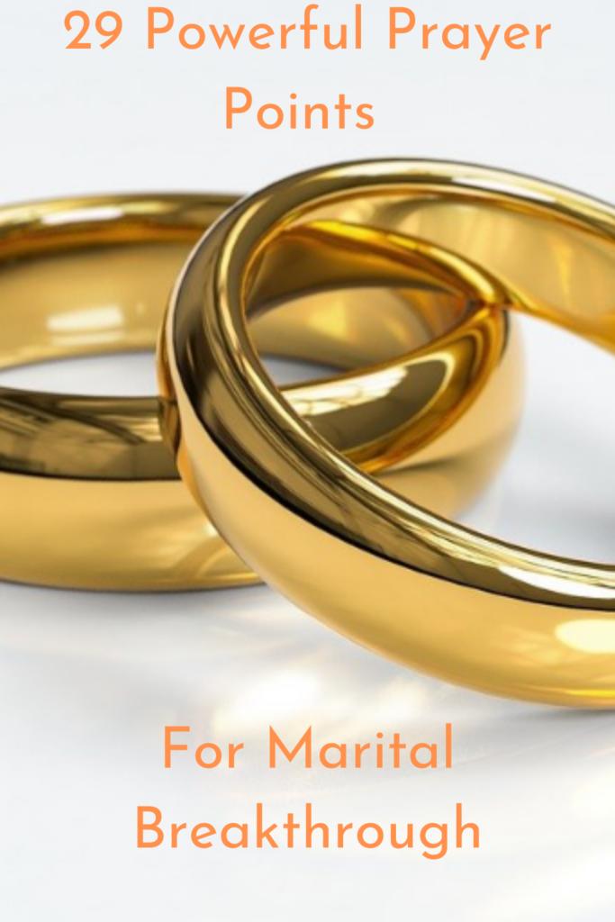 Prayer Points For Marital Breakthrough