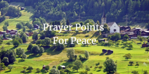 prayer points for peace